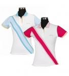 E COUTURE Ladies Oceanic Short Sleeve Polo Shirt