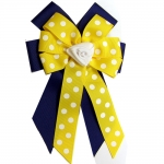Ellie's Bow Navy and Yellow