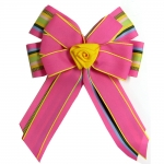 Ellie's Bow Pink and Multi Stripe