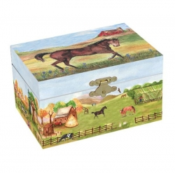 Enchantmints Country Horse Musical Jewelry Box Jewelry Box Music