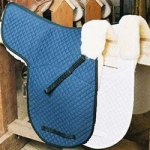 Engel Sheepskin Shaped Saddle Pad w/Pommel Roll