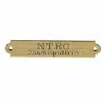 Engraved Name Plate 1/2' x 3' English Brass Plate