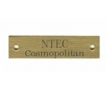 Engraved Name Plate 1/2' x 3' Beveled Brass Plate