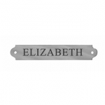 Engraved Name Plate 3/4' x 4 1/4' English Chrome Plate