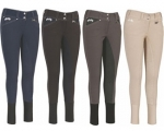 Equine Couture Ladies Blakely Knee Patch Breeches w/ Contrast Saddle Stitch