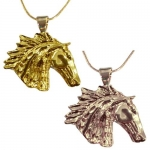 Exselle Horse Head Wind Blown Pendant