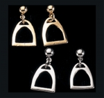 Exselle Horse Stirrup Earrings-Smooth