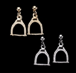 Exselle Horse Stirrup Earrings-Textured