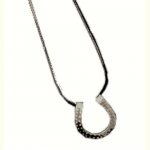 Exselle Horseshoe on Leather Thong Pendant