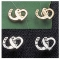 Exselle Horseshoe with Heart Earrings