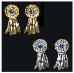 Exselle Large Horse Show Ribbon Earrings