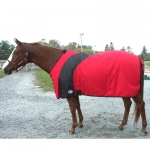 Exselle Prima Blanket-Red with Black  74  Red/Black