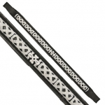 Fancy Stitched Celtic Knot Brow Band Black