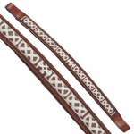 Fancy Stitched Celtic Knot Brow Band Chestnut