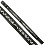 Fancy Stitched Laurel Leaf Brow Band Black