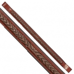 Fancy Stitched Laurel Leaf Brow Band Brown