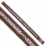 Fancy Stitched Laurel Leaf Brow Band Chestnut