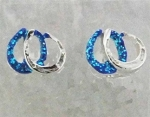 Finishing Touch Double Horse Shoe Glitter Earrings