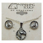 Finishing Touch Horse Head in Oval Rope Gift Set