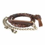 Finn-Tack Leather Braided Lead Shank