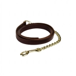 Finn-Tack leather lead shank,1 chain