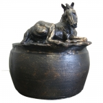 Forge Hill Lying Foal Bowl by Beverly Zimmer