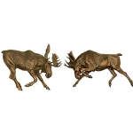 Forge Hill Moose Wall Sculpture Set of 2
