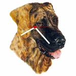 Great Dane Head Shaped Clock