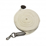 HDR Web Lunge Line w/Donut End W/out Chain 35ft - NATURAL