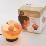 Himalayan Bowl Salt Lamp with 5 Massage Crystal Balls