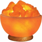 Himalayan Iconic Salt Crystal Bowl Lamp