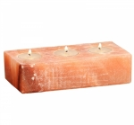 Himalayan Salt 3 Tea Light Candle Holder