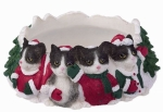Holiday Candle Topper - Black and White Cat