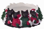 Holiday Candle Topper - Black Cat