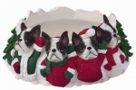 Holiday Candle Topper - Boston Terrier