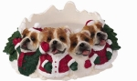 Holiday Candle Topper - Bulldog