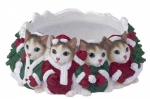 Holiday Candle Topper - Calico Cat
