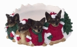 Holiday Candle Topper - Chihuahua Black and White