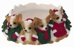 Holiday Candle Topper - Chihuahua tan and White