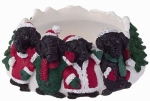 Holiday Candle Topper - Labrador Black