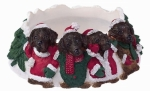 Holiday Candle Topper - Labrador Chocolate Candle toppr