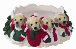 Holiday Candle Topper - Labrador Yellow
