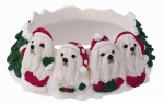 Holiday Candle Topper - Maltese