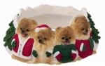 Holiday Candle Topper - Pomeranian
