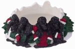 Holiday Candle Topper - Poodle Black