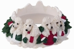 Holiday Candle Topper - Poodle White
