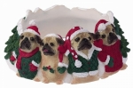 Holiday Candle Topper - Pug