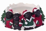 Holiday Candle Topper - Pug Black