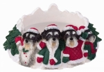 Holiday Candle Topper - Schnauzer