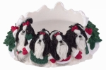 Holiday Candle Topper - Shih tzu Black and White